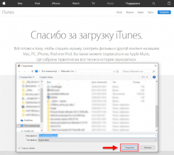 iTunes для Windows Vista
